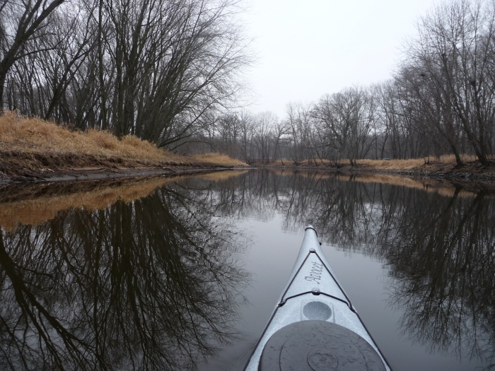 December 2nd paddling on the Wolf River in Wisconsin.